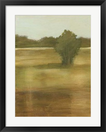 Framed Tranquil Meadow II Print