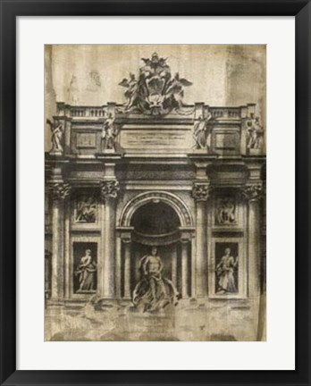 Framed Ancient Ruins II Print
