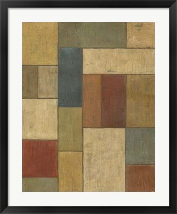 Framed Tiled Abstract I Print