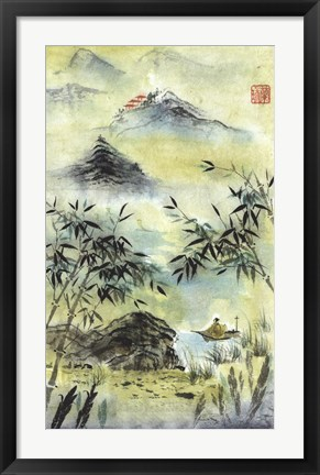 Framed Having Visited Qui Baishi Print
