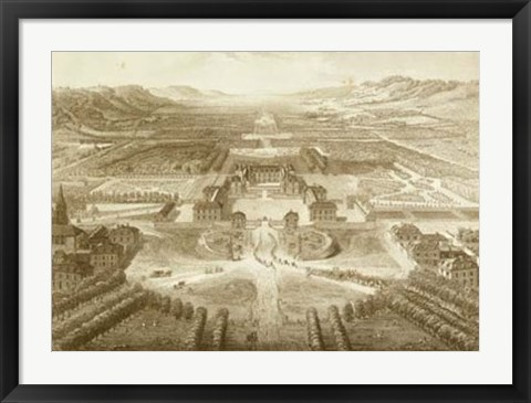 Framed Bird's Eye View of Versailles Print