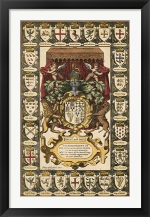 Framed Armes of Kings Print