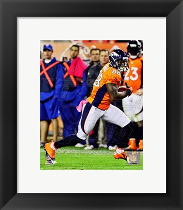 Framed Demaryius Thomas 2012 with the ball Print