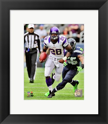 Framed Adrian Peterson 2012 Action Print