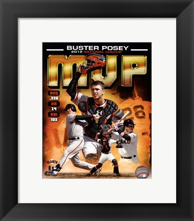 Framed Buster Posey 2012 National League MVP Composite Print