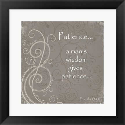 Framed Patience Quote Print