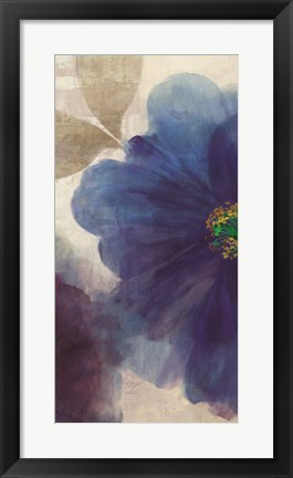 Framed Shades of Indigo I Print