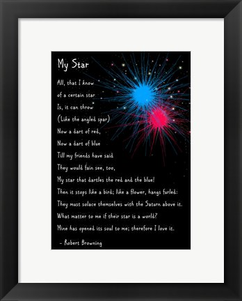 Framed My Star by Robert Browning - long Print