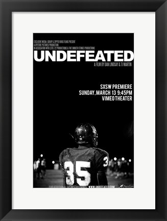 Framed Undefeated - black and white Print