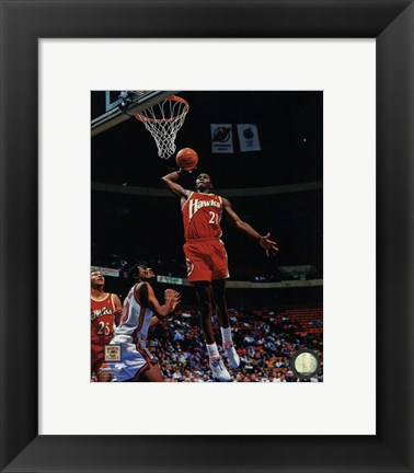 Framed Dominique Wilkins 1993 Action Print