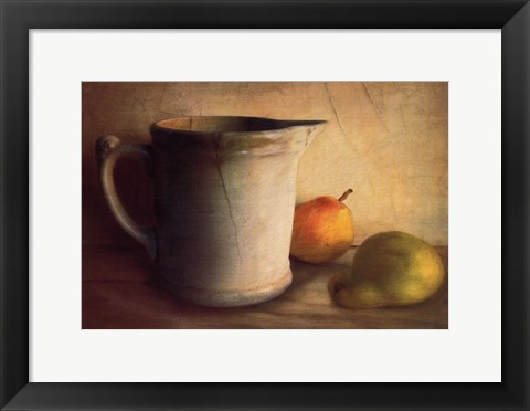 Framed PEARS AND PITCHER Print