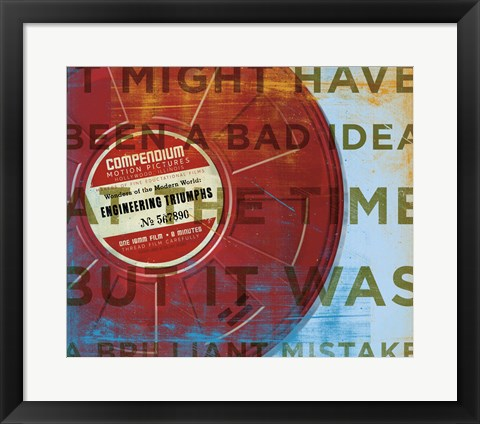 Framed Brilliant Mistake Print