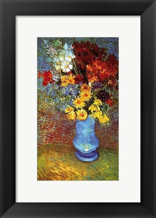 Framed Vase With Anemone Print