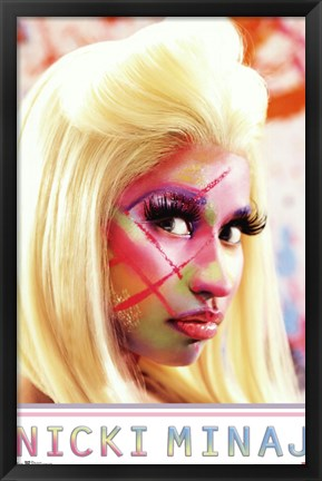 Framed Nicki Minaj - Face Paint Print