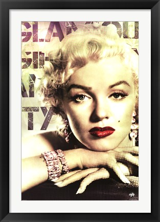 Framed Marilyn Monroe - Glamour Color Print