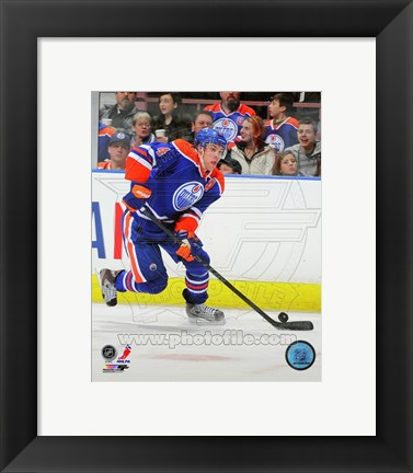 Framed Taylor Hall on Ice 2012-13 Print