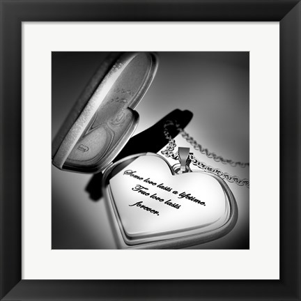 Framed Locket Love Quote Print