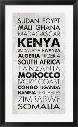 Framed African Countries I Print