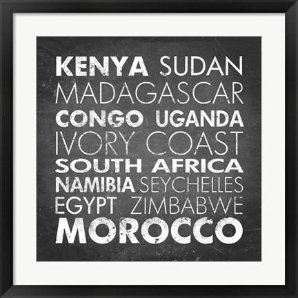 Framed African Countries Print