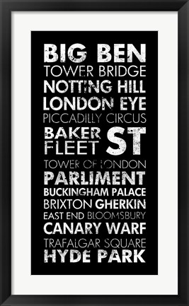 Framed London II Print