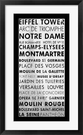 Framed Paris III Print