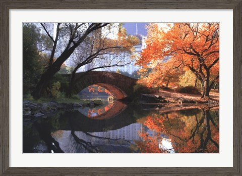 Framed Gapstow Bridge, Fall Print