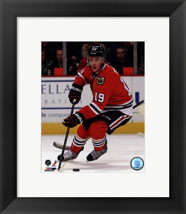 Framed Jonathan Toews on Ice 2012-13 Print