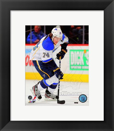 Framed T.J. Oshie in Action 2012-13 Print