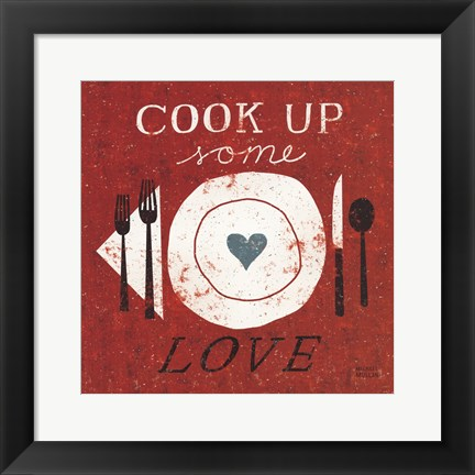 Framed Cook Up Love Print