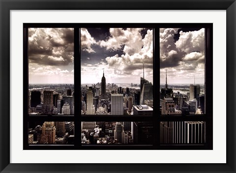 Framed New York Window Print