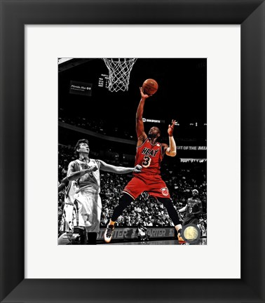 Framed Dwyane Wade 2012-13 Spotlight Action Print