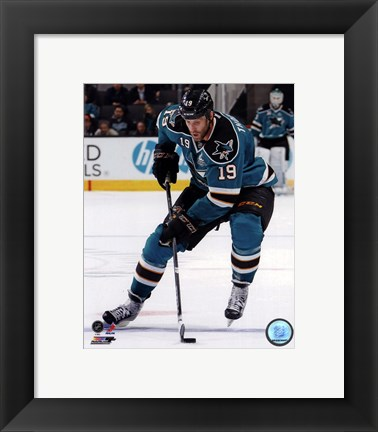 Framed Joe Thornton on Ice 2012-13 Print