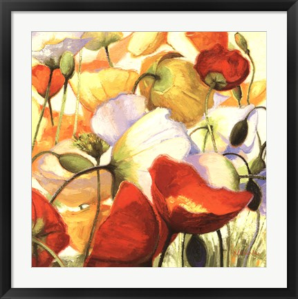 Framed Poppies Up Close Print
