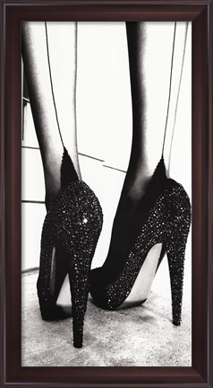 Framed High Heel Shoes Print
