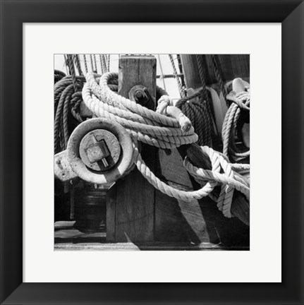 Framed Ship Shape II Print