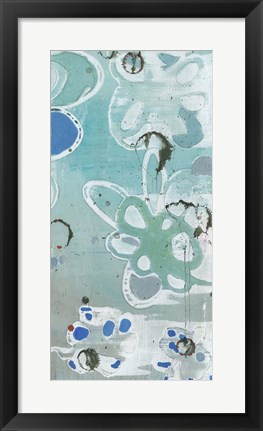 Framed Flowers Abstracted II Print