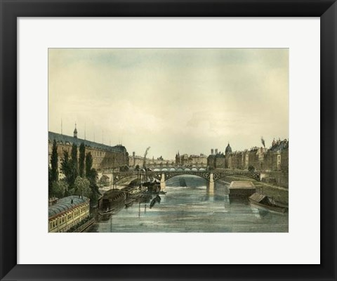 Framed Vue Du Pont Royal Print