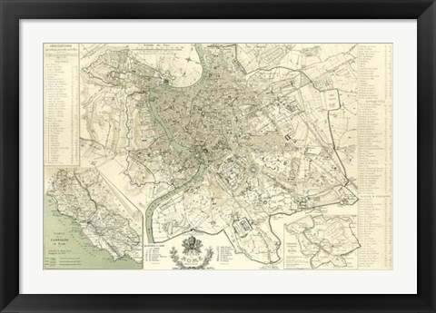 Framed Landmarks of Rome Print