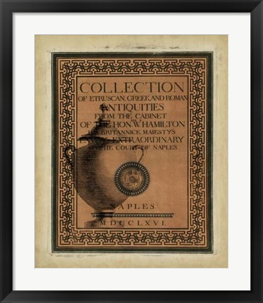 Framed Antiquities Collection II Print