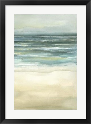 Framed Tranquil Sea III Print