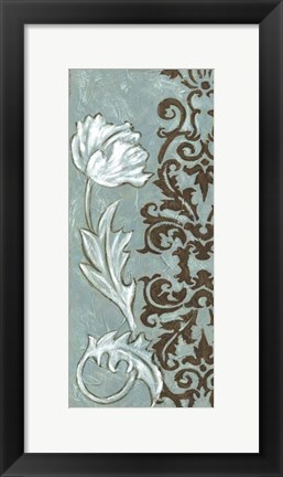 Framed Floral and Damask I Print