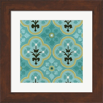 Framed Cottage Patterns VI Print