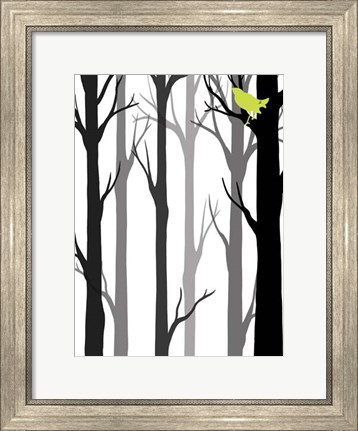 Framed Forest Silhouette II Print