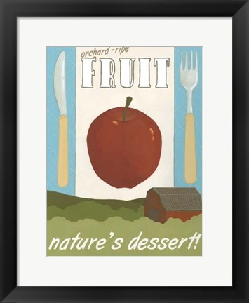 Framed Orchard-Ripe Fruit Print