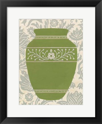 Framed Pottery Patterns III Print