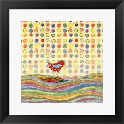 Framed Feathers, Dots & Stripes VII Print