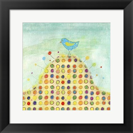 Framed Feathers, Dots & Stripes XIII Print