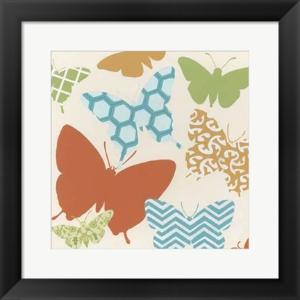 Framed Butterfly Patterns II Print