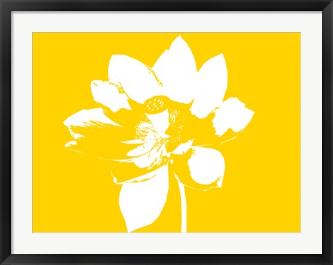Framed Lilly on Yellow Print