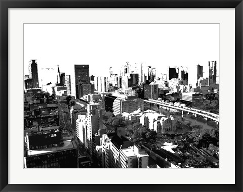 Framed Skyline in Osaka1 Print
